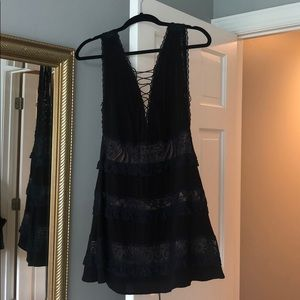 For love and lemons black and navy lace dress